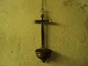 Крест настенный старинный или лампадка