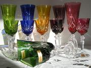 Бокалы и рюмки из цветного хрусталя  (12шт)