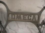Швейная  ручная машинка OMEGA OMEGA CENTRAL BOBBIN NAHMASCHINE. Возможен 1904 г. выпуска. рабочая,  розпись