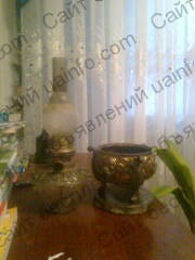 Немецкая керосиновая лампа-ваза 19 века