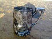 кружка пивная стариная  925 проба серебро