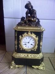 Каминные часы,  антиквариат !