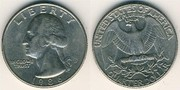 Монета Quarter Dollar,  Liberty 1996 перевертишь