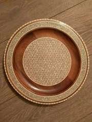 Тарелка инкрустированная сувенирная